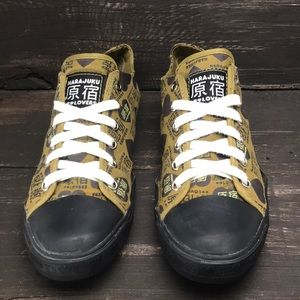 Harajuku Lovers Canvas Sneakers Size 8.5